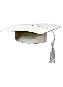 White Graduation Cap.