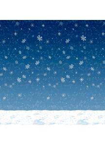 Winter Sky Backdrop. Walls, Doors, Windows Decorations.
