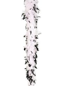Boa Feather 40 Wht W Blk Tips