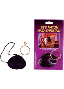 Eye Patch Satin W Earring