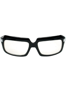 Glasses 80'S Scratcher Blk Clr - 15343