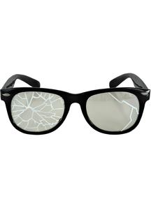 Glasses Broken Blk/Clr - 15301