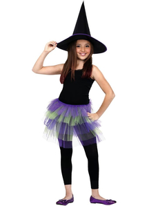 Glitter Tutu Child Purple Gree