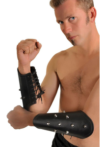 Leather Arm Guards Spikes