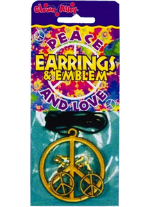 Peace Necklace Earring Set
