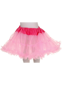 Petticoat Tutu Chld Bubble Gum