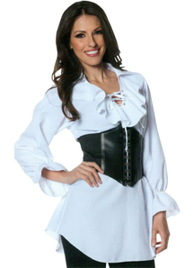 Pirate Laced Front Blouse Lg