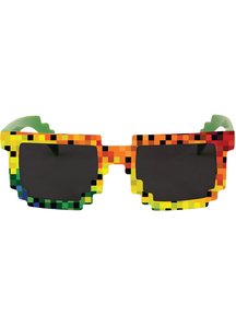 Pixel Glasses Rainbow