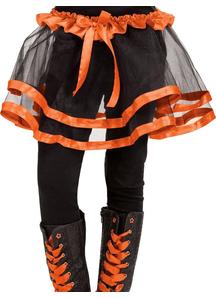 Ribbon Tutu Child Orange