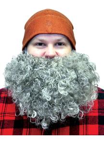 Beard Big And Curly Grey