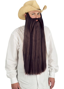 Beard With Mustache Brown