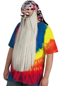 Beard With Mustache Grey