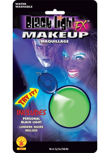 Blacklight Makeup Green Glow