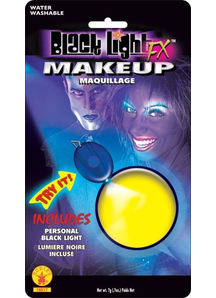 Blacklight Makeup Yellow Glow