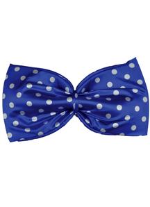 Bow Tie Jumbo Polkadot Blue