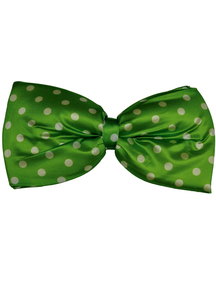 Bow Tie Jumbo Polkadot Green