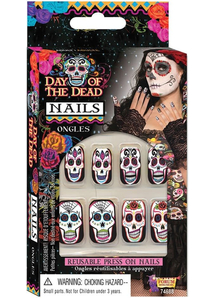 Day Of Dead Nails Accessory