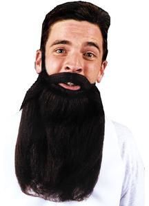Mustache Beard Black 14 Inches
