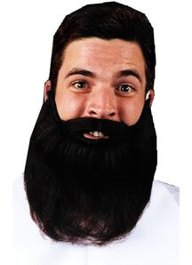 Mustache Beard Black 8 Inches