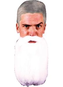 Mustache Beard White 14 Inches