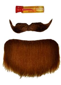 Mustache Goatee Brown