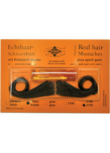 Mustache Real Hair Spanish Black