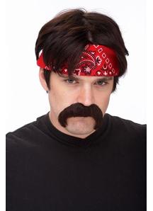 Mustache The Biker Brown
