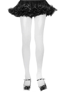 Tights Adult White 1 Size