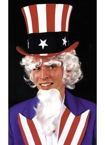 Uncle Sam Wig Goatee Eyebrow Kit