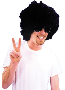 Afro Wig Black For Adults