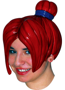 Anime 4 Latex Red Wig