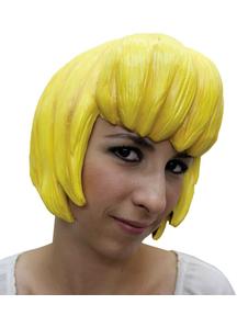 Anime 6 Latex Yellow Wig