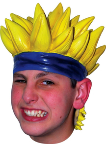 Anime 7 Latex Yellow Wig