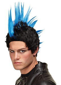Blue Wig For Punk Rocker