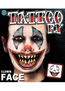 Clown Face Tattoo