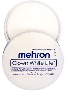 Clown White Lite 8 Oz Mehron