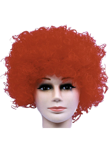 Curly Clown Red Budget Wig For Adults