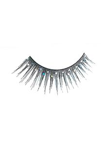 Eyelashes Black Glitter
