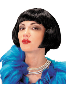 Flapper Black Wig For Women - 17630