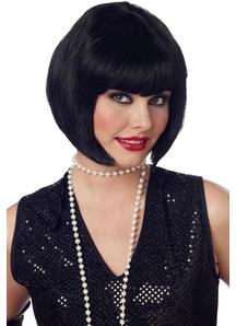 Flapper Black Wig For Women - 17580
