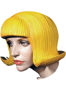 Flip Rubber Wig Yellow
