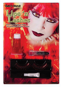 Lips And Lashes Devil Red