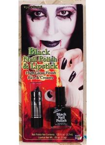 Lipstick Nail Polish Black