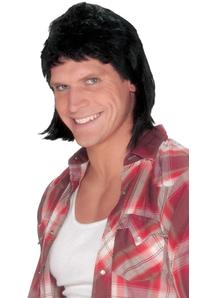 Mullet Black Wig