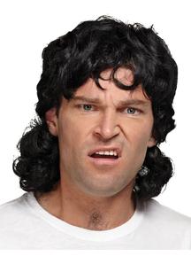 Mullet Wig Black For Men