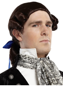 Ponytail Bow Brown Wig For Men