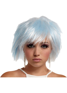 Punky Fairy Wig White-Blue