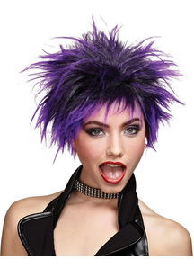 Purple Wig For Punker Chick