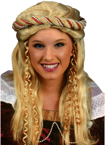 Renaissance Blonde Wig For Adults