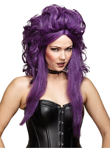 Sorceress Wig For Halloween Black Purple